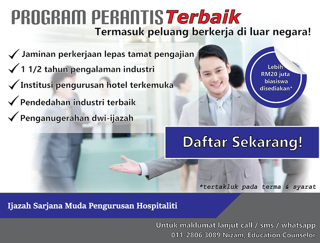 The Best Hospitality Course At Vatel Malaysia Free Ads